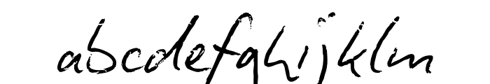 Biro Script Font LOWERCASE