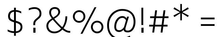 Biryani UltraLight Font OTHER CHARS