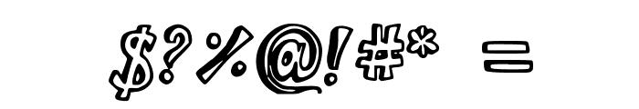 BistroBlock Font OTHER CHARS