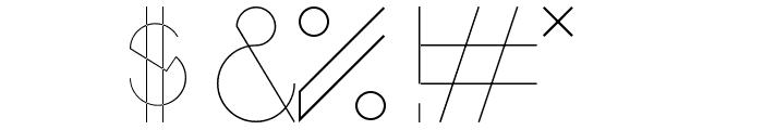 Bisurk Regular Font OTHER CHARS