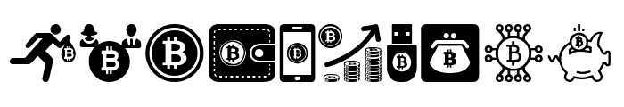 Bitcoin Font OTHER CHARS