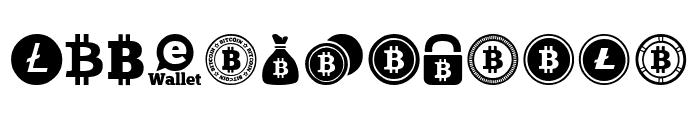 Bitcoin Font UPPERCASE