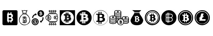 Bitcoin Font LOWERCASE