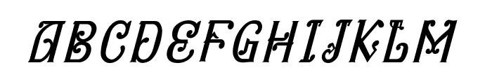Bitling niks musical Italic Font UPPERCASE