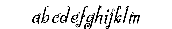 Bitling niks musical Italic Font LOWERCASE