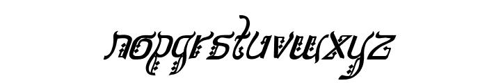 Bitling sulochi calligra Italic Font LOWERCASE