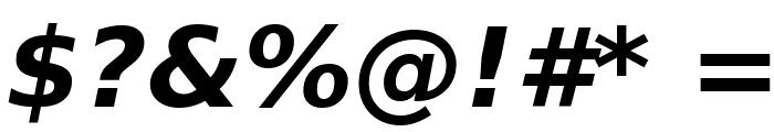 Bitstream Vera Sans Bold Oblique Font OTHER CHARS