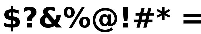 Bitstream Vera Sans Bold Font OTHER CHARS
