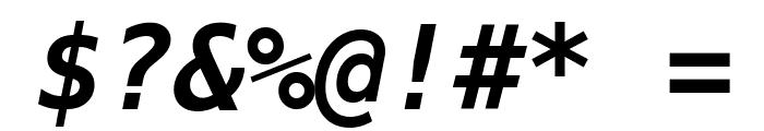 Bitstream Vera Sans Mono Bold Oblique Font OTHER CHARS