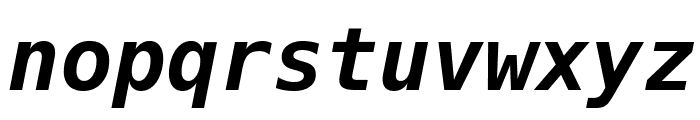 Bitstream Vera Sans Mono Bold Oblique Font LOWERCASE