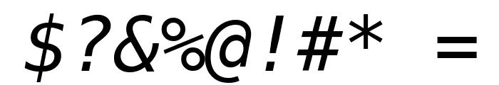 Bitstream Vera Sans Mono Oblique Font OTHER CHARS