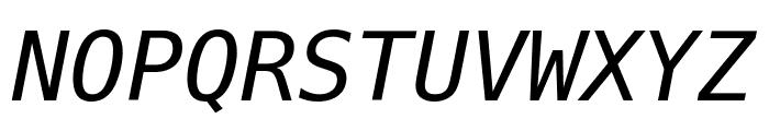 Bitstream Vera Sans Mono Oblique Font UPPERCASE