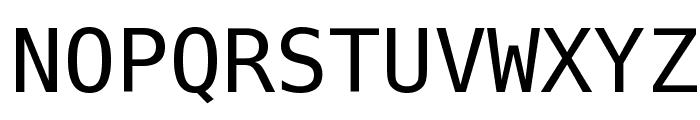 Bitstream Vera Sans Mono Font UPPERCASE