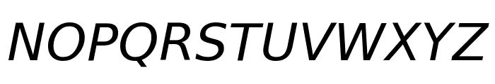 Bitstream Vera Sans Oblique Font UPPERCASE