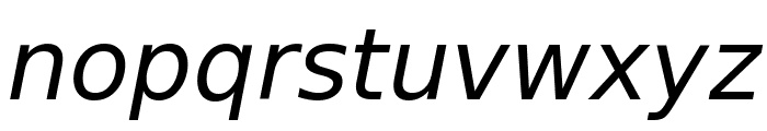 Bitstream Vera Sans Oblique Font LOWERCASE
