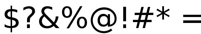Bitstream Vera Sans Font OTHER CHARS