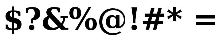 Bitstream Vera Serif Bold Font OTHER CHARS