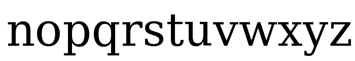 Bitstream Vera Serif Font LOWERCASE