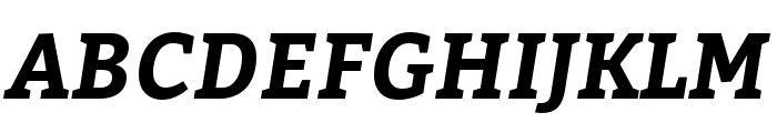 Bitter Bold Italic Font UPPERCASE