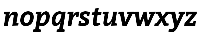 Bitter Bold Italic Font LOWERCASE