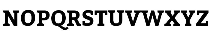 Bitter-Bold Font UPPERCASE
