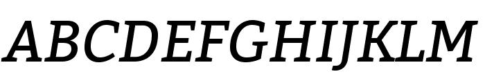 Bitter-Italic Font UPPERCASE