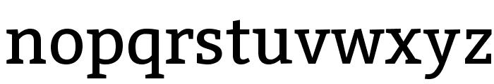 Bitter-Regular Font LOWERCASE