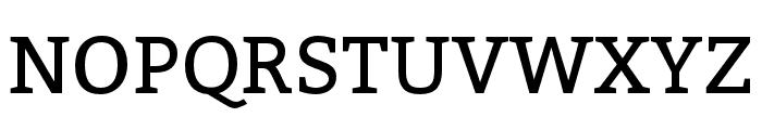 Bitter Font UPPERCASE