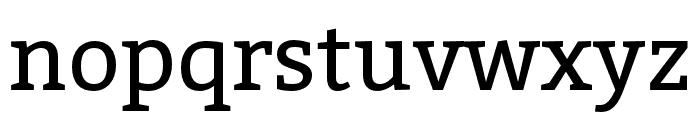 Bitter Font LOWERCASE