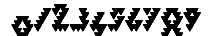 Bizar Loved Triangles Font OTHER CHARS