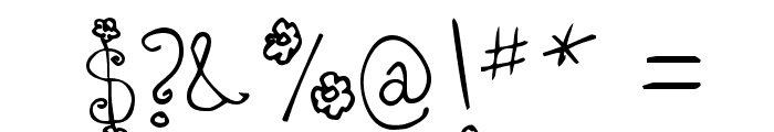 Bizzy Bee Font OTHER CHARS