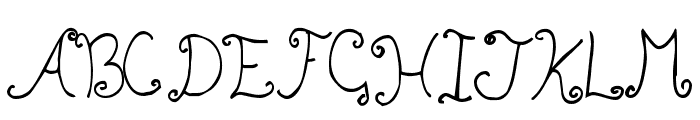 Bizzy Bee Font UPPERCASE