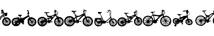 bicycle tfb Font UPPERCASE