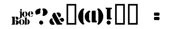 billieKid Font OTHER CHARS