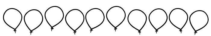birthday balon tfb Font OTHER CHARS