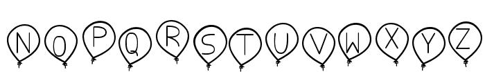 birthday balon tfb Font UPPERCASE