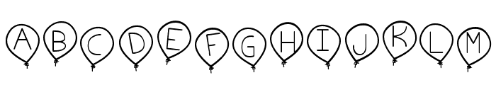birthday balon tfb Font LOWERCASE