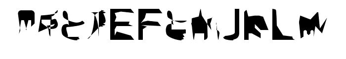 bitstorm condensed Font UPPERCASE