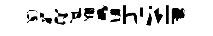 bitstorm condensed Font LOWERCASE