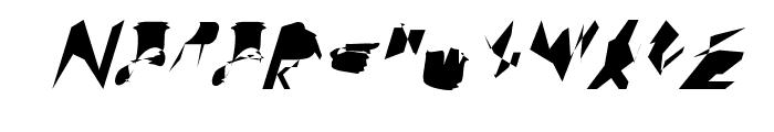 bitstorm extracondensed oblique Font UPPERCASE