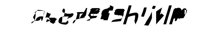 bitstorm extracondensed oblique Font LOWERCASE