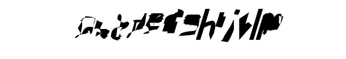 bitstorm maximumcondensed oblique Font LOWERCASE