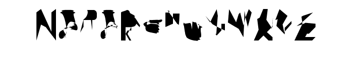 bitstorm supercondensed Font UPPERCASE