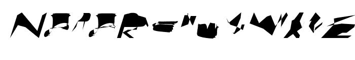 bitstorm superextended oblique Font UPPERCASE