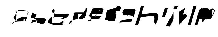bitstorm superextended oblique Font LOWERCASE