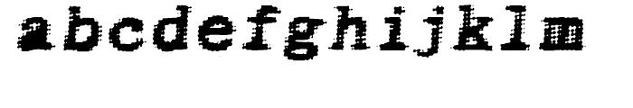 Bighead Bold Oblique Font LOWERCASE