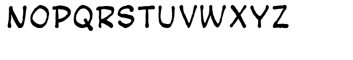 Bigmouth Package Font LOWERCASE
