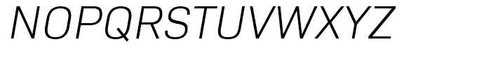 Bio Sans Light Italic Font UPPERCASE