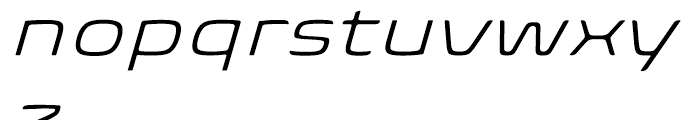 Biome Wide Light Italic Font LOWERCASE