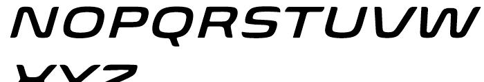 Biome Wide Semi Bold Italic Font UPPERCASE